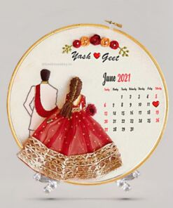 Custom Embroidered Hoop - Save the Date
