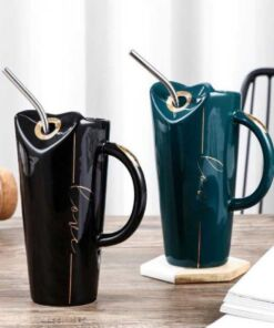 Ceramic Sipper with Steel Straw
