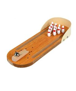 Mini Bowling Game - Indoor Wooden Game